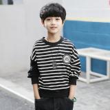 Beli Katun Bergaris Anak Anak Bottoming Kemeja T Shirt Hitam Other Online