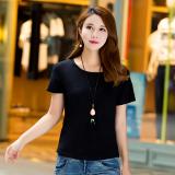 Spesifikasi Longgar Katun Sederhana Baru Ukuran Besar Korea Fashion Style Lengan Pendek T Shirt Lengan Pendek T Shirt Hitam Hitam Oem Terbaru