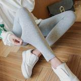 Harga Hemat Wanita Katun Legging Pakaian Luar Kebugaran Legging Bagian Umum Abu Abu Muda