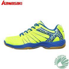 Kawasaki Bulutangkis Sepatu K-062 Hijau Bulutangkis Sneaker-Intl