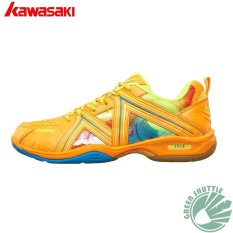 Kawasaki Bulutangkis Sepatu K-135 Orange Badminton Sneaker-Intl