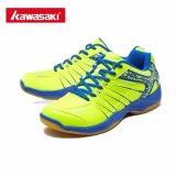 Harga Kawasaki Profesional Sepatu Bulu Tangkis Untuk Pria Wanita Sneakers Tahan Aus Bernapas Sepatu Olahraga K 062 Hijau Intl Satu Set