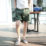 Harga Kay Jalan Versi Korea Dari Katun Warna Solid Pria Celana Kasual Pria Celana Pendek Celana Pendek Tentara Hijau Terbaru
