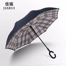 Spesifikasi Kazbrella C Brella Upside Down Umbrella Payung Terbalik Payung Ajaib Burberry Murah Berkualitas