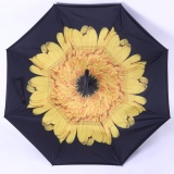 Jual Kazbrella C Brella Upside Down Umbrella Payung Terbalik Payung Ajaib Sunflower Pop Up Original