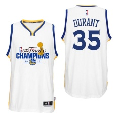 KD Fans Golden State Warriors Authentic Men's White NBA Kevin Durant #35 Sports 2017 the Finals Champion Swingman Basketball Jersey (S-XXL) - intl