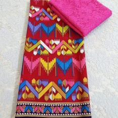 cherry - set kain satin bima ratu pink dan brokat sofia - pink kebaya bali murah