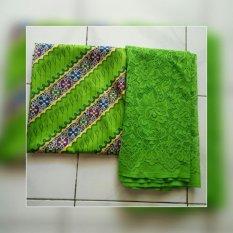 Kebaya bali murah set kain satin dan atasan brokat