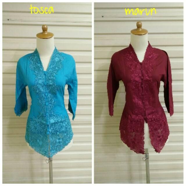 Kebaya Encim 005 Tangan 3/4 Bahan Katun Kebaya Kartini Baju Atasan Wanita Kerja Kondangan