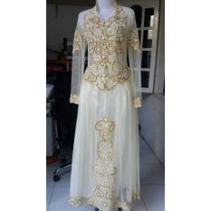 Kebaya Modern - Gaun Kebaya - Gaun Nikah - Gaun Pengantin - Gaun Pesta - Cream