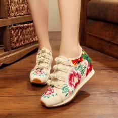Toko Kebugaran Beijing Oldish Sepatu Golden Goose Bordir Sepatu Kain Sepatu Hak Perempuan Nasi Putih Tiongkok