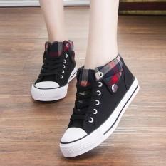 Spesifikasi Kebugaran Gaya Kampus Perempuan Datar Siswa Sekolah Menengah Sepatu Wanita Sepatu Hitam 3 7 Paling Bagus