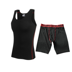 Spesifikasi Kebugaran Hitam Legging Celana Pendek Laki Laki Vest Jas Hitam Garis Merah Jas Hitam Garis Merah Jas Murah
