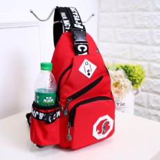 Promo Kebugaran Jepang Dan Korea Selatan Warna Solid Sabuk Headset Lubang Tas Selempang Merah Other Terbaru
