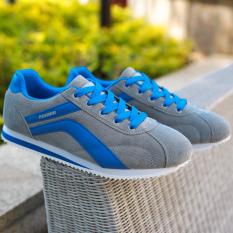 Kebugaran Korea Fashion Style Kanvas Siswa Berlari Sepatu Cortez Nike Sepatu (Biru)
