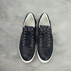 Kebugaran Korea Fashion Style Pria Putaran Paling Bagus Sepatu Kets Putih Sepatu Potongan Rendah (Hitam)