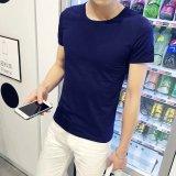Jual Kebugaran Korea Fashion Style Pria Slim Remaja Kemeja Katun Warna Solid Leher Bulat Lengan Pendek T Shirt Leher Bulat Biru Baju Atasan Kaos Pria Kemeja Pria Online Di Tiongkok
