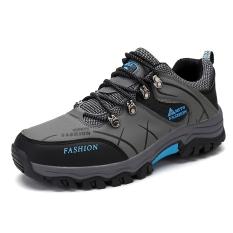 Sepatu Mendaki Gunung Pria Kulit Asli Anti Selip Santai (Hijau Tentara Warna) (Hijau Tentara Warna)