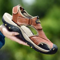 Kebugaran Roma Kulit Pria Musim Panas Sepatu Coklat Muda Tiongkok Diskon