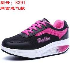 Jual Kebugaran Musim Semi Dan Musim Gugur Sepatu Wanita Sepatu Goyang Hitam Dan Merah 8391 Permukaan Jala Oem Asli