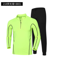Baju Cepat Kering Luar Rumah Berlari Laki-laki Lari Pagi (218 hijau neon + 8801 hitam)