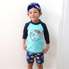 Kecil anak laki-laki anak laki-laki anak-anak pakaian renang baju renang (6088)