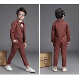 Jual Kecil Anak Laki Laki Anak Laki Laki Baru Gaun Pengantin Jas Anggur Merah Di Bawah Harga