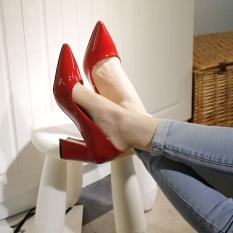 Harga Wanita Kecil Segar Sepatu Heels Sepatu Kerja Merah Paling Murah