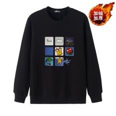 Kecil Gemuk Tambah Beludru Baru Remaja Ukuran Plus Kode Katun Lengan Panjang Kaos Sweater (Mainan Rubik Hitam)