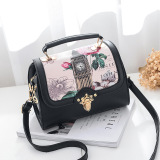 Dapatkan Segera Fang Wild Bag Women Diagonal Messenger Shoulder Handbag Fashion Handbags Hitam