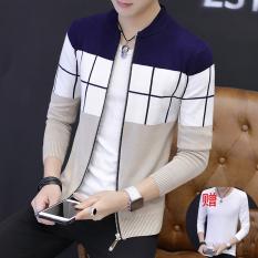 Kecil Segar Baru Musim Semi atau Musim Gugur Korea Modis Gaya Kemeja Rajut Sweater Pria (