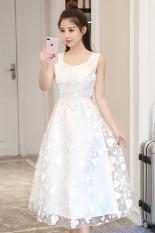 Kecil Segar Perempuan Baru dan Bagian Panjang Rok Gaun (Putih) Baju Wanita Gaun Wanita Gaun Wanita