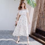 Toko Bunga Kecil Bening Slim Terlihat Langsing Rok Pantai Sifon Gaun Warna Baju Wanita Dress Wanita Gaun Wanita Termurah Tiongkok