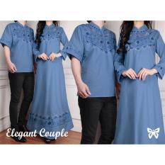 Jual Beli Kedai Baju Batik Couple Batik Pasangan Batik Cp Elegant Dark Blue Di Dki Jakarta