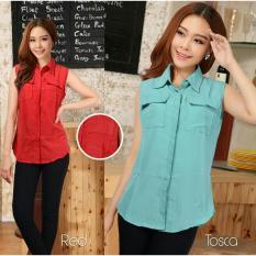 Rp 39.900 Kedai_Baju Blouse atasan Wanita Japan - MerahIDR39900