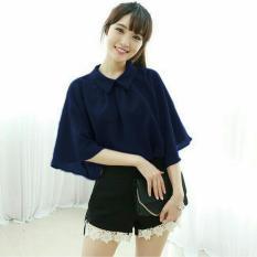 Kedai_baju Blouse Murah / Atasan Wanita / Gigi Blouse - Navy