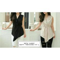 Kedai_baju Blouse Murah / Atasan Wanita / Gigi Blouse - NavyIDR48100. Rp 48.100