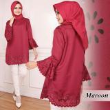 Jual Kedai Baju Blouse Premium Atasan Wanita Tunik Top Ben Maroon Branded Original