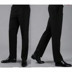 Kedai_Baju Celana Formal Polos Hitam - Regular Fit