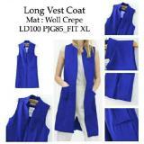 Spesifikasi Kedai Baju Formal Wanita Long Vest Coat Biru Murah