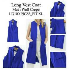 Kedai Baju Formal Wanita Long Vest Coat Biru Dki Jakarta
