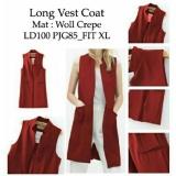 Jual Kedai Baju Formal Wanita Long Vest Coat Maroon Kedai Baju Grosir
