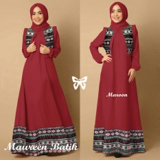 Kedai_baju Gamis Berkualitas / Batik Muslim / Hijab Murah / Maureen Maroon