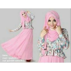 Kedai_baju Gamis Berkualitas / Muslim / Hijab Murah / Liena Pink