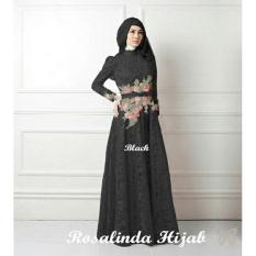 Kedai_baju Gamis Berkualitas / Muslim / Hijab Murah / Rosalinda Hitam