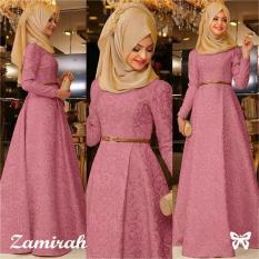 Kedai_Baju Pakaian Muslim / Baju Muslim Murah Syari Hijab / Gamis Zamirah Dusty Pink