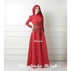 Kedai_Baju Pakaian Muslim / Baju Muslim Murah Syari Hijab / Gamis Rosalinda Maroon