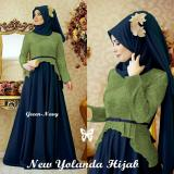 Miliki Segera Kedai Baju Pakaian Muslim Baju Muslim Murah Syari Hijab Gamis Yolanda Hijau Navy