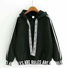 KEI'S jaket sweater wanita are rules black fashion wanita terbaru