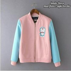 KEI'S jaket sweater wanita doraemon bordir pink fashion wanita termurah